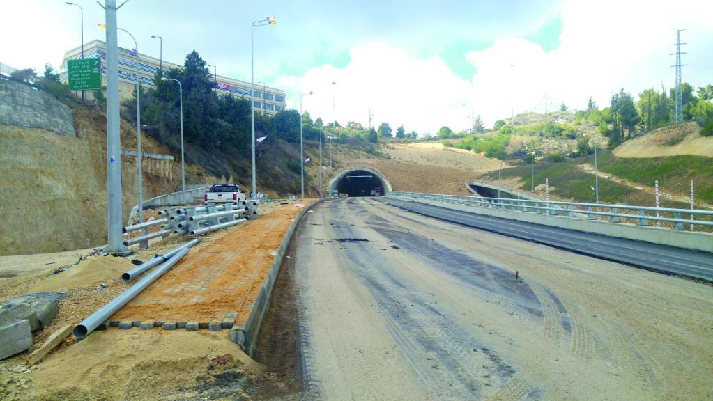 מנהרות כביש 1 (צילום: חברת נתיבי ישראל)