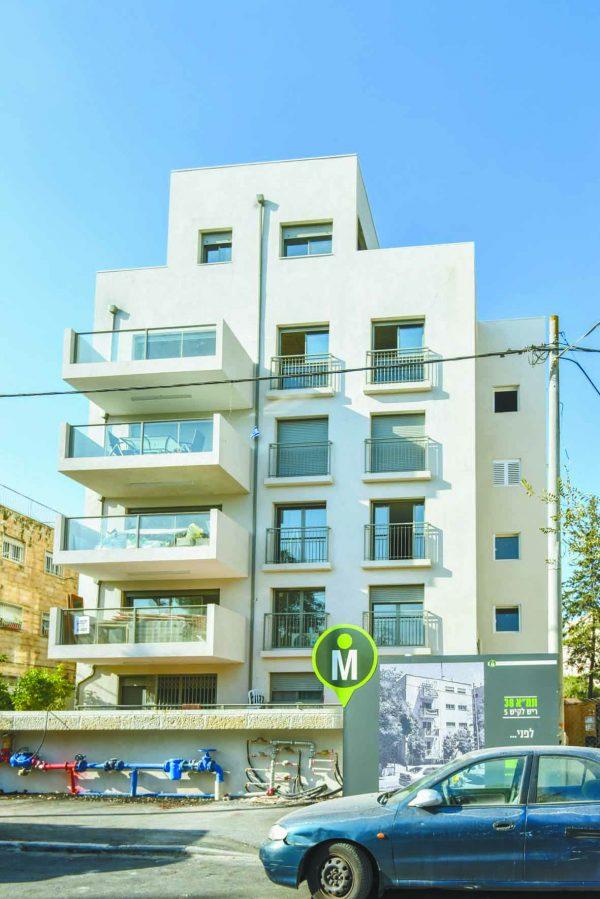 הבניין בריש לקיש 5 בירושלים (צילום: אביעד תבל)