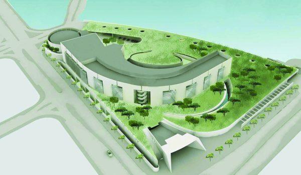 הדמיית תוכנית מתחם משרד ומעון ראש הממשלה (הדמיה: רם כרמי אדריכלים ועדה כרמי-מלמד אדריכלים)