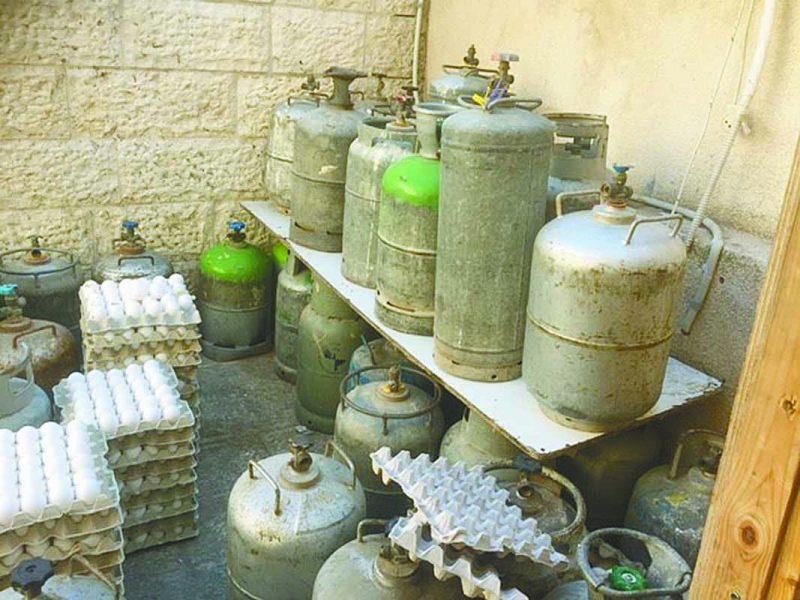 פעילות גז פיראטית בירושלים. צילום: מפקחי מינהל הדלק והגז במשרד האנרגיה