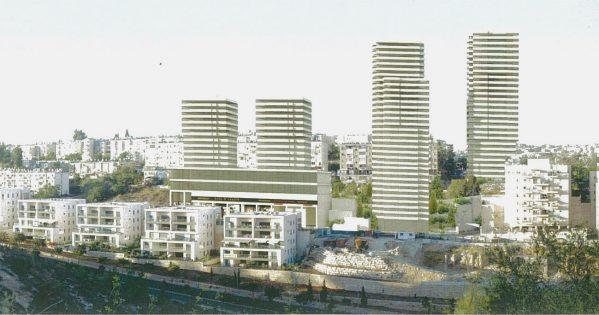 הדמיית פרויקט פינוי בינוי ברחוב הנורית בירושלים (הדמיה: דן איתן ורות להב-ריג אדריכלים ומתכנני ערים)