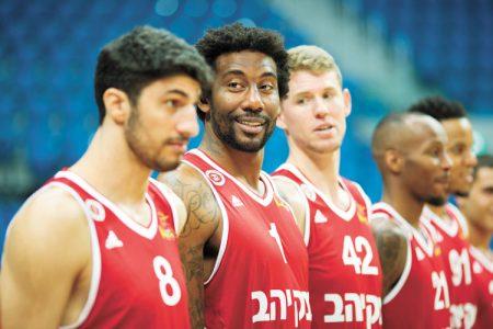 הפועל ירושלים בכדורסל (צילום: אמיל סלמן)