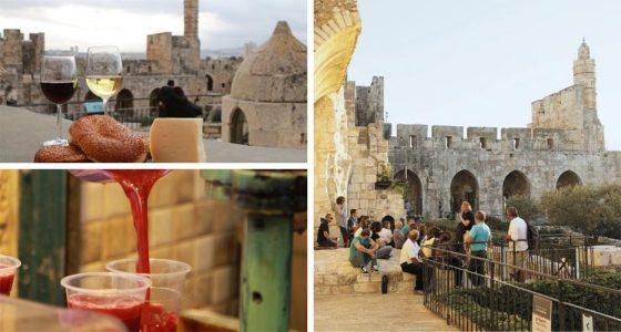 סיור בעקבות משקאות ירושלמים במוזיאון מגדל דוד (צילומים: עודד אנטמן, ריקי רחמן)