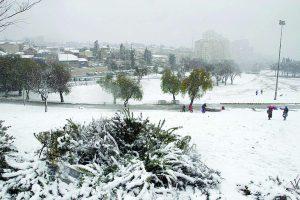 הסופה הגדולה בירושלים, חורף 2013 (צילום: דניאל בר און, ג'יני)