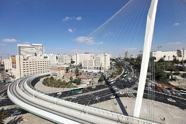 גשר המיתרים בירושלים (צילום: אורן בן חקון)