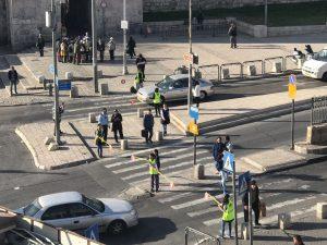 שוטרי מחוז ירושלים במזרח העיר (צילום: דוברות המשטרה)