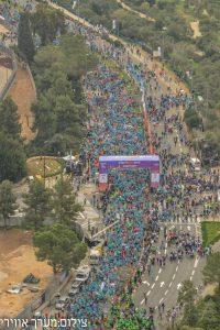 מרתון ירושלים 2017 (צילום: דוברות המשטרה, מערך אווירי)