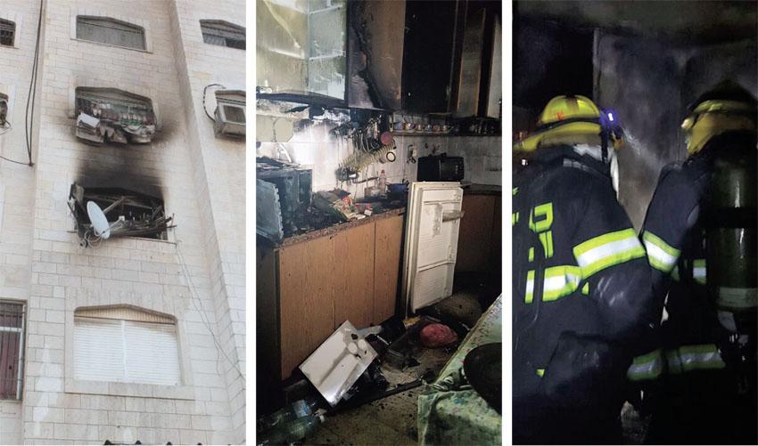 שריפות בבתים בגילה, בבית חנינא ובהר נוף (צילומים: אריק אבולוף כבאות והצלה ירושלים, דוברות כבאות והצלה ירושלים)