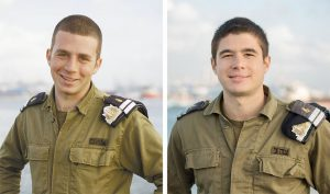 """סגן עמית בן עמי, סגן דותן פלדמן (צילומים: דובר צה""""ל)"""