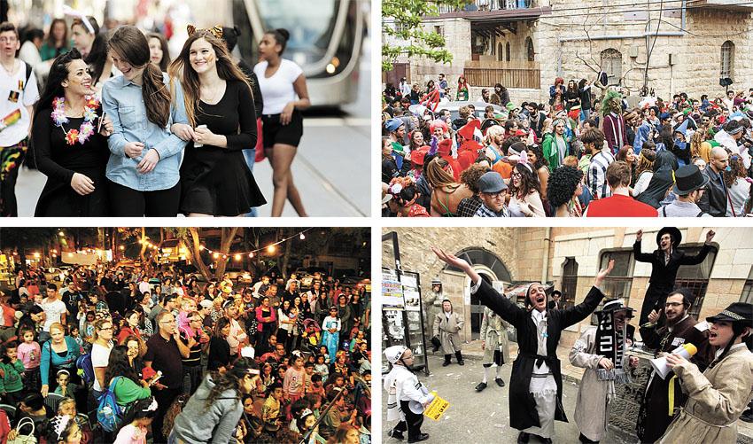 היום, שני: הבמה המרכזית לפורים בכיכר ספרא
