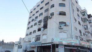 השריפה בבית חנינא (צילום: דוברות כבאות והצלה ירושלים)