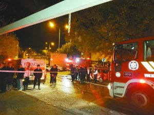 השריפה בהר נוף (צילום: אריק אבולוף, דוברות כבאות והצלה מחוז ירושלים)