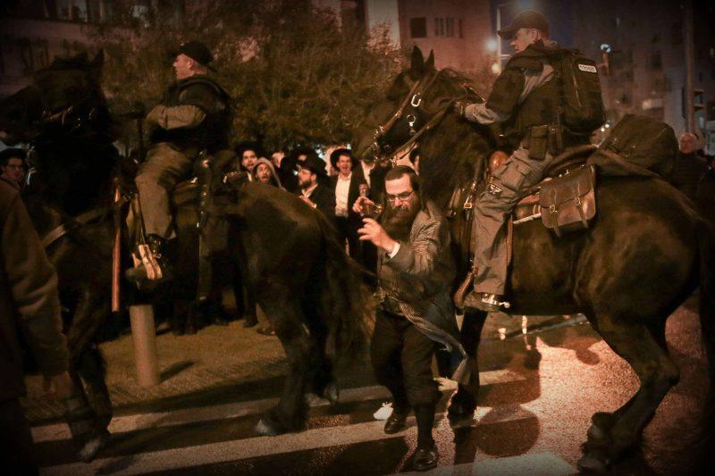 הפגנות החרדים (צילום: אורן בן-חקון)