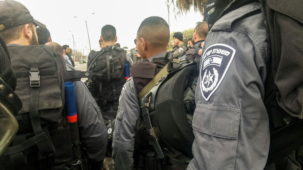 היערכות המשטרה לאיטום בית המחבל בג'בל מוכבר (צילום דוברות המשטרה)