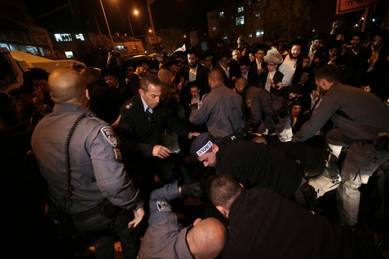 הפגנות החרדים בירושלים (צילום: אורן בן-חקון)