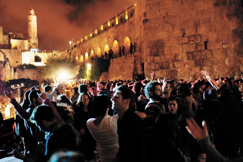 פטישים בלילה, מגדל דוד (צילום: דור קדמי)
