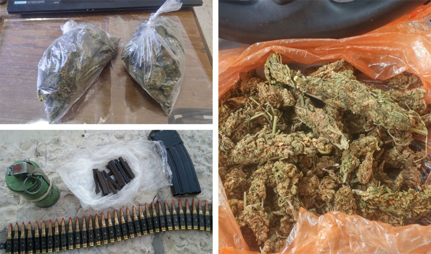 סחר בסמים מסוכנים (צילום: דוברות המשטרה)