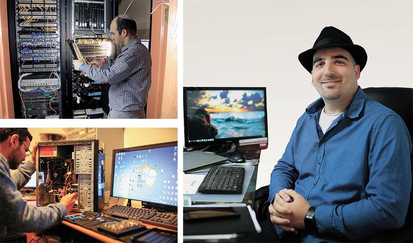 אבי אורן, הבעלים של חברת מגה צ'יפ מחשבים (צילומים: אורן בן־חקון, יעקב מאור)