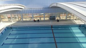 בריכת השחייה בקאנטרי החדש בארמון הנציב (צילום: ניב אוחיון וצחי לוי מנהלי הפרויקט מטעם הקרן לירושלים)