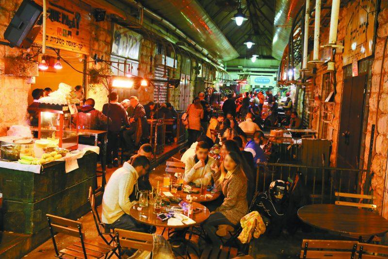 מתחם הבילויים בשוק מחנה יהודה (צילום: ארנון בוסאני)