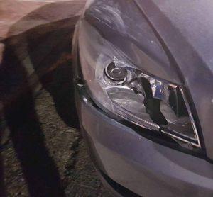 הרכב הפוגע (צילום: דוברות המשטרה)