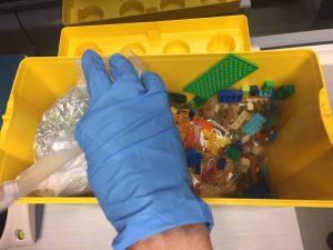 סמים הוסלקו בתוך קופסאות לגו (צילום: דוברות משטרה)