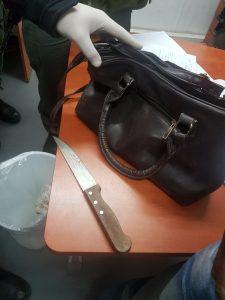סכין המחבלת (צילום: דוברות המשטרה)