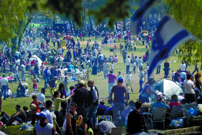 חגיגות יום העצמאות בגן סאקר (צילום: תומר אפלבאום)