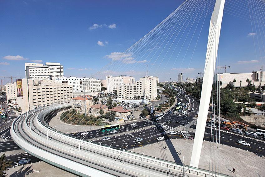 גשר המיתרים, ירושלים כללי, (צילום: אורן בן חקון)
