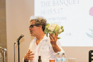 אייל שני באירוע קונצרטו לעגבניה פסטיבל המשתה ( צילום: יח''צ משכנאות שאננים)