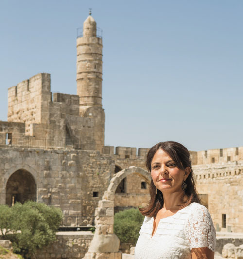 אילת ליבר מנכלית מוזאון מגדל דוד (צילום: מיכל פתאל)