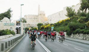 אירוע רכיבת אופניים בעיר (צילום: רונן טופלברג)