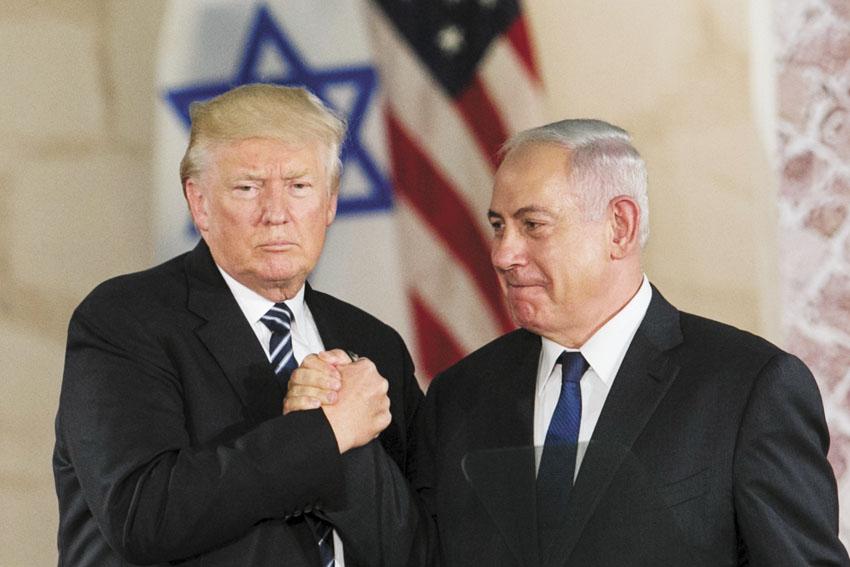 """ראש הממשלה בנימין נתניהו ונשיא ארה""""ב דונלד טראמפ (צילום: אוליבייה פיטוסי)"""