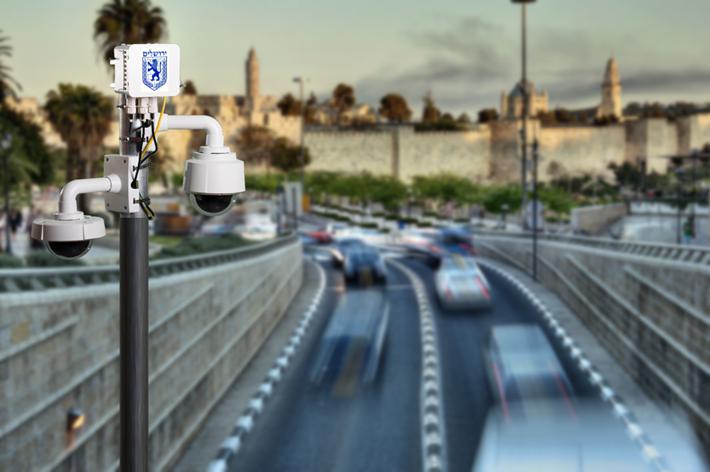 מצלמת כביש בירושלים (צילום: דוברות העירייה)