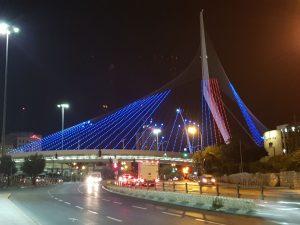 המיצג בגשר המיתרים (צילום: עיריית ירושלים)