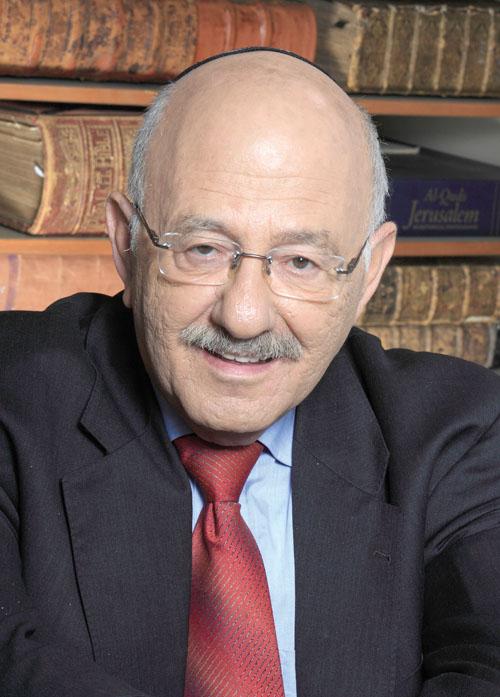 """דוד בלומברג, יו""""ר דירקטוריון הספרייה הלאומית (צילום: דן פרגוס)"""