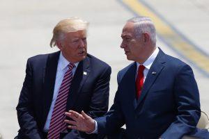 """נשיא ארה""""ב דונלד טראמפ וראש הממשלה בנימין נתניהו (צילום תומר אפלבאום)"""
