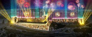 הדמיה הבמה המרכזית ביום ירושלים (צילום: באדיבות חברת אריאל)