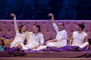 """הצגה """"סופר מאצ'ו"""" בתיאטרון ירושלים (צילום: ז'ראר אלון)"""