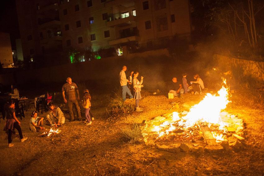 """מדורת ל""""ג בעומר בירושלים (צילום: אמיל סלמן)"""