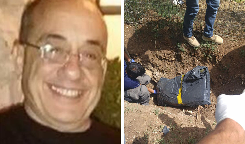"""זירת הרצח שבה אותרה הגופה, סמי מרציאנו ז""""ל (צילומים: דוברות המשטרה)"""