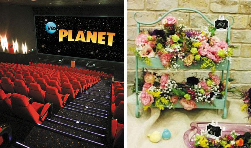 """סדנת שזירת פרחים, אולם IMAX ביס פלאנט (צילום: יח""""צ)"""