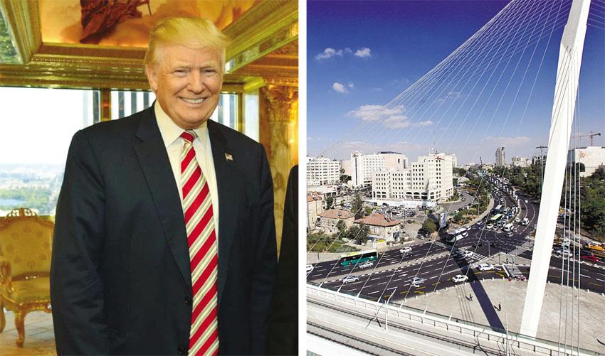 """ירושלים, נשיא ארה""""ב דונלד טראמפ (צילומים: אורן בן-חקון, קובי גדעון לע""""מ)"""