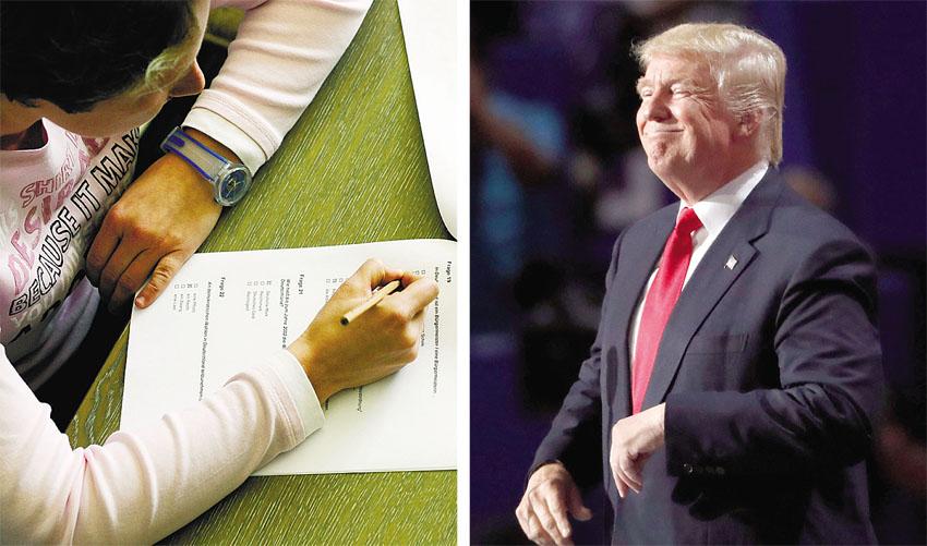 """נשיא ארה""""ב דונלד טראמפ, בחינה (צילום: אי-פי)"""