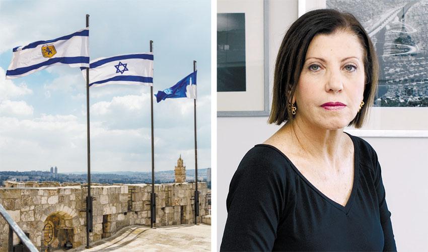 """ח""""כ זהבה גלאון, חומות העיר העתיקה לקראת יום ירושלים (צילומים: גלי איתן, ריקי רחמן)"""