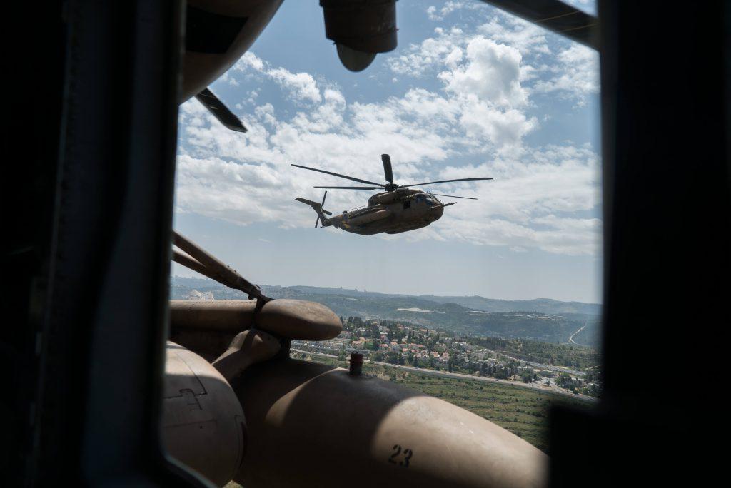 """מטס חיל האוויר החגיגי ליום העצמאות (צילום: דובר צה""""ל)"""