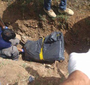 השקית שנמצאה בגינה, רצח בארמון הנציב (צילום: דוברות המשטרה)