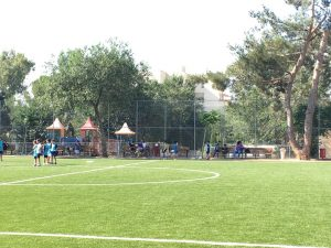 מגרש הספורט החדש בבקעה (צילום: רותי קניזניק)