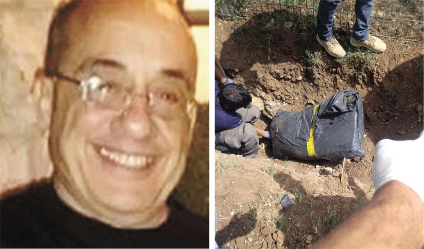 """זירת הרצח, סמי קורל ז""""ל (צילום: דוברות המשטרה)"""