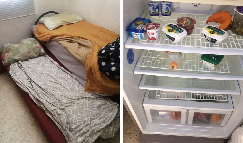 המקרר ואחד החדרים בדירה בקטמונים